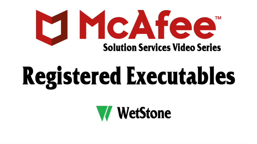 Registered Executables