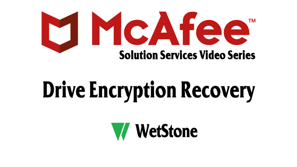 Drive Encryption Recovery