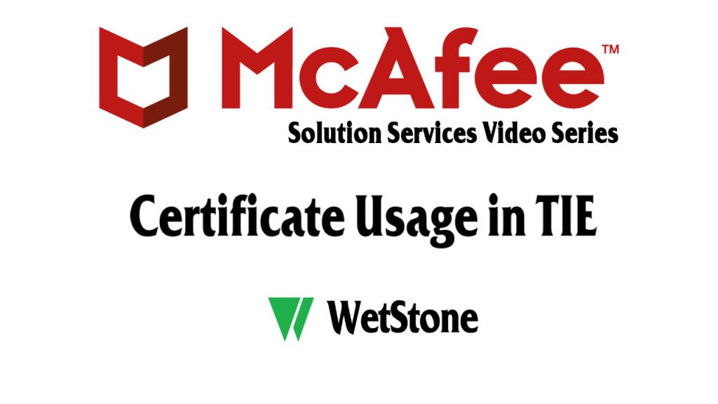 Certificate Usage in TIE