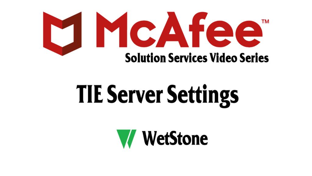 TIE Server Settings