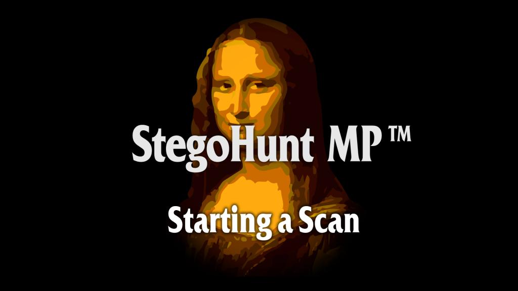 StegoHunt MP: Starting a Scan