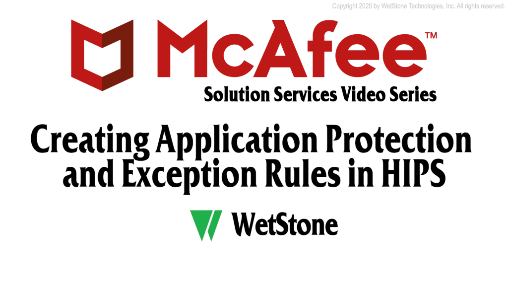 Creating Application Protection and Exception Rules in HIPS