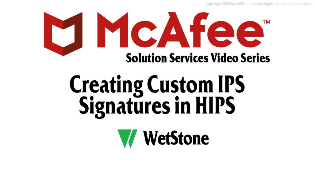 Creating Custom IPS Signatures in HIPS
