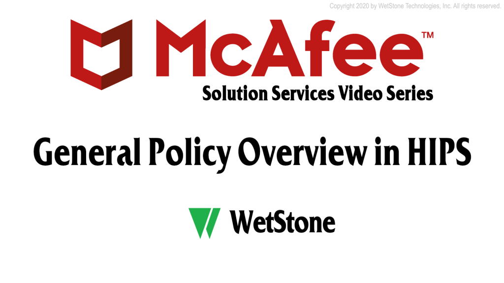 General Policy Overview in HIPS
