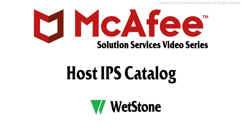 Host IPS Catalog