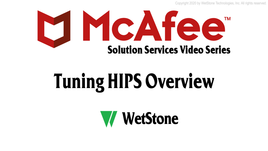 Tuning HIPS Overview