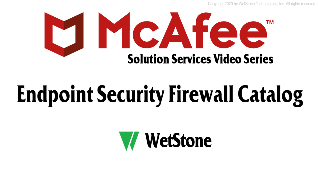 Endpoint Security Firewall Catalog