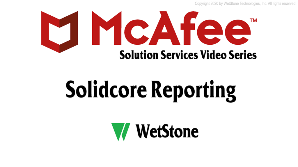 Solidcore Reporting