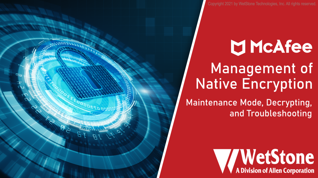 MNE Maintenance Mode, Decrypting, and Troubleshooting