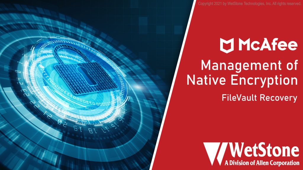 MNE FileVault Recovery