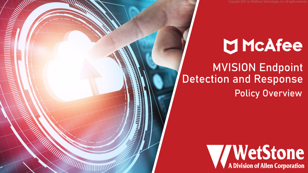 MVISION EDR Policy Overview