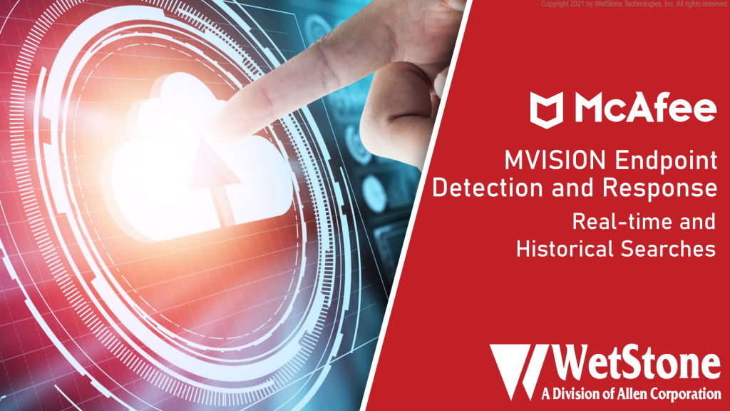 MVISION EDR Real-time and Historical Searches